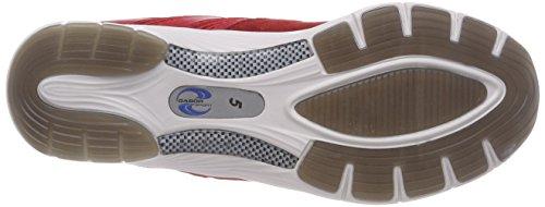 Sport Gabor Cordones De Zapatos Mujer rosso Para rot Derby Shoes Rojo silber wwC1q5r