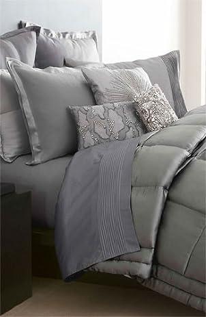 amazoncom donna karan bedding modern classics platinum ash silk full queen bed quilt clearance home u0026 kitchen