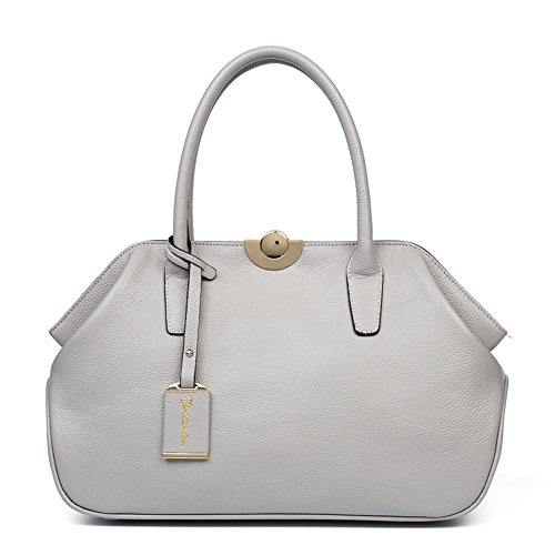 Top Handbag Satchel Leather Women Bostanten 5 Bag Shoulder Purple handle Taro gray Designer wx1XqFR