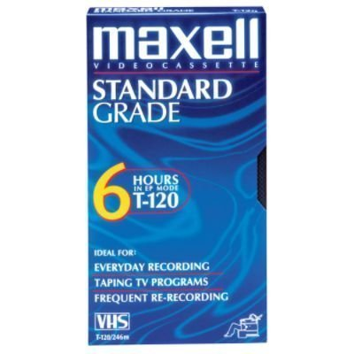 Maxell T120GX/5PK VHS Cassette Standard Grade T-120, 6 Hour 5-Pack by Maxell