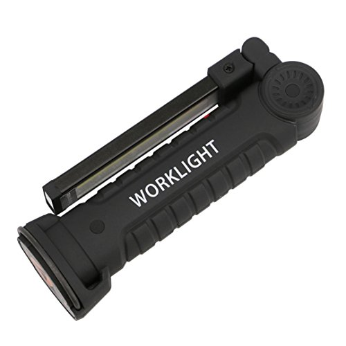 LED COB Rechargeable Work Light - Portable Work Lights with Magnetic Base Ultra Bright LED Flashlight - Flexible Cordless Inspection Lamp for Car Truck Repair, Emergency and Household (Small) by Buyeverything