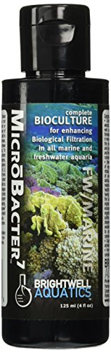 Brightwell Aquatics MicroBacter7, Complete bioculture for establishing Biological Filtration & Rapidly improving Water Quality, 125ml