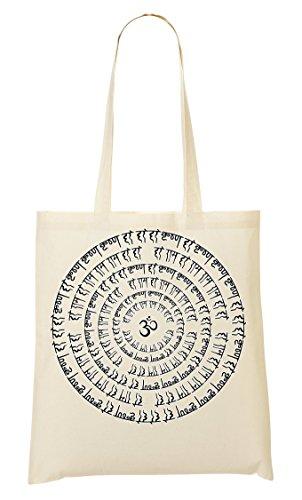 Om Mani Padme Hum | Buddha | Wisdom | Gem | Lotus Flower | Prayer | Simple | Shape Bolso De Mano Bolsa De La Compra