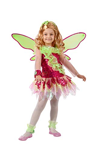 Ciao Flora Tynix Conversion Costume Winx Club Girl, 7-9 Years, Green, Pink, 11236.7-9]()