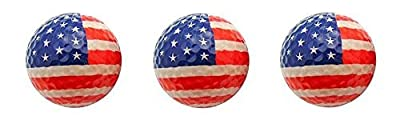 3 Pack Golf Balls (Available in Various Styles) (USA Flag)