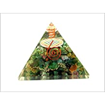 Jet Ruby Fuschite Flower of Life Orgone Pyramid Free Booklet Jet International Crystal Therapy