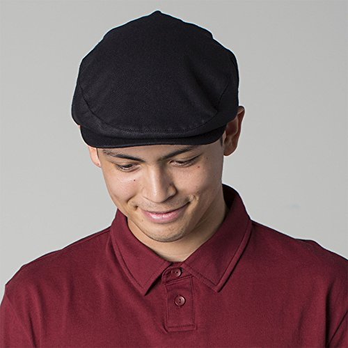 f06eabac0963c Brixton Hats Hooligan Flat Cap - Black Herringbone  Amazon.co.uk  Clothing