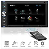 BOSS Audio Systems BV9349B Car Multimedia Receiver - Double Din, Bluetooth Audio and Calling, 6.2 Inch LCD Touchscreen Monitor, MP3 Player, USB/SD Ports, AUX Input, AM/FM Radio Receiver, No CD/DVD
