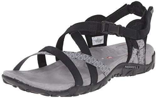 Merrell Women's Terran Lattice II Sandal, Black, 7 M US