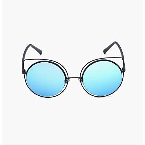 Redonda Mujer A Gafas Gafas Cara Retro de Color sol Caja Moda Mujer Amazing Gran C n1Xw0