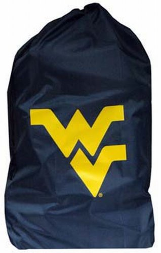 NCAA West Virginia Mountaineers Laundry Team Logo Design Bag, Navy by Game Day Outfitters