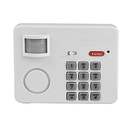 Secure@Home ALARMA DE CASA Detector de movimiento con teclado para código NUMÉRICO
