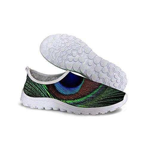 Pour U Conçoit Confortable Respirant Maille Super Légère Femmes Chaussures De Sport Chaussures De Course Vert
