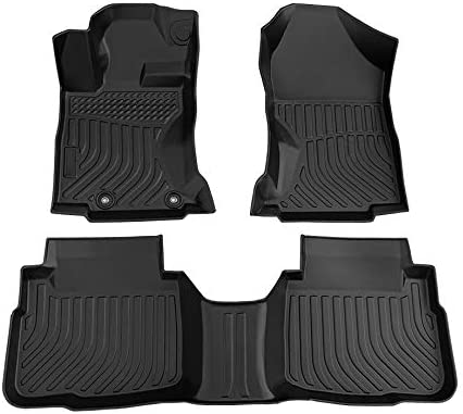 Landrol Cars Floor Mats Replacement for Subaru Legacy 2020 2021 Custom Fit Odorless Carpets Durable Rubber All Weather Protection Liners Black