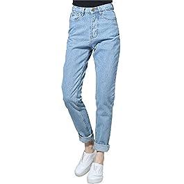 Women's Denim Pants Mom Jeans High Waisted Jeans