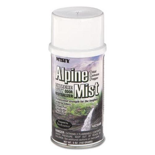 Misty 1039402 Odor Neutralizer Fogger, Alpine Mist, 5oz, Aerosol, 12/Carton