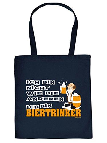 BIERTRINKER -Tote Bag Henkeltasche Beutel mit Aufdruck. Tragetasche, Must-have, Stofftasche. Geschenk,Bier