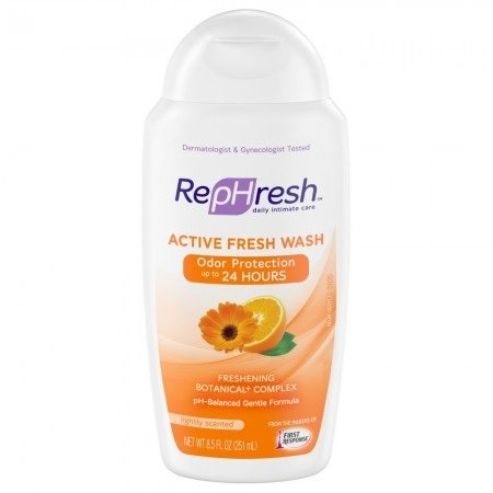 RepHresh Active Fresh Wash, Lightly Scented,8.5oz. Per Bottle