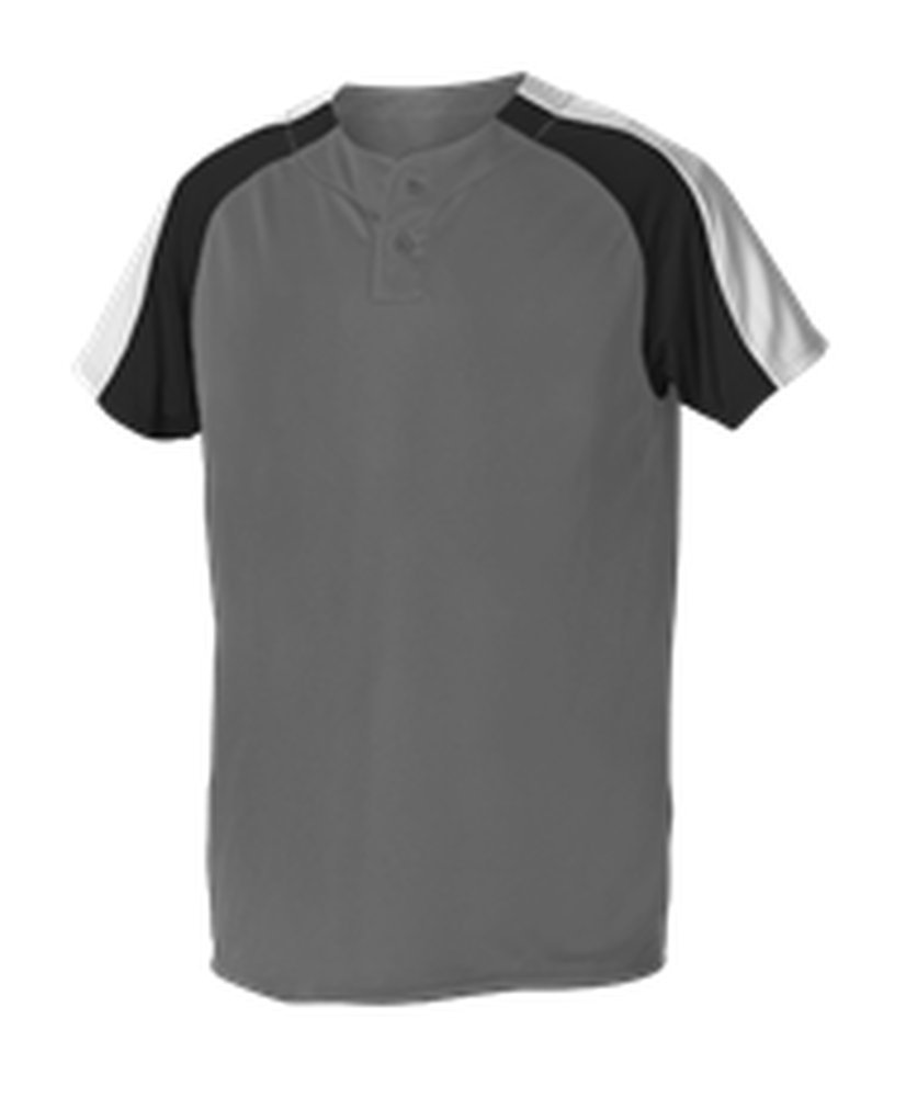 Alleson Athletic SHIRT メンズ B074N9LD4H 2X|Charcoal, Black, White Charcoal, Black, White 2X