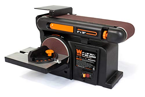 WEN 6502T 4.3-Amp 4 x 36 in. Belt and 6 in. Disc Sander with Cast Iron Base (Best Benchtop Belt Sander)