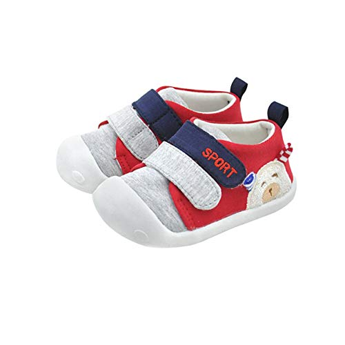 Infant Baby Boys Girls Non-Slip Rubber Sole First Walking Shoes Breathable Toddler Sneakers