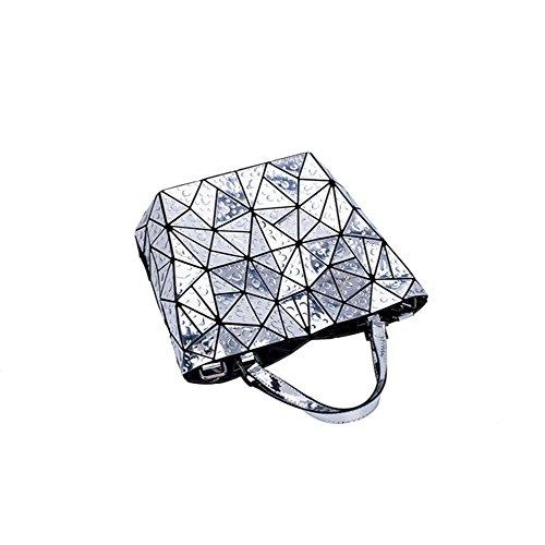 Aoligei Goutte d'eau irrégulier triangle seau diamant trellis géométrique paquet japonais pliage sac A