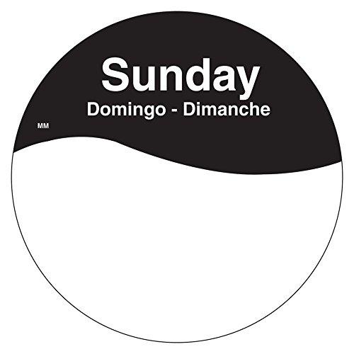DayMark 1101087 MoveMark Trilingual 3'' Sunday Day Circle - 500 / RL by DayMark Safety Systems