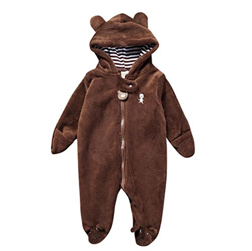 67a14425fb30 Vicbovo Baby Boy Girl Fleece Cartoon Penguin Hooded Coat Toddler ...
