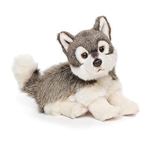 Small Wolf Friend Wispy Charcoal Children's Plush Stuffed Animal Toy ()