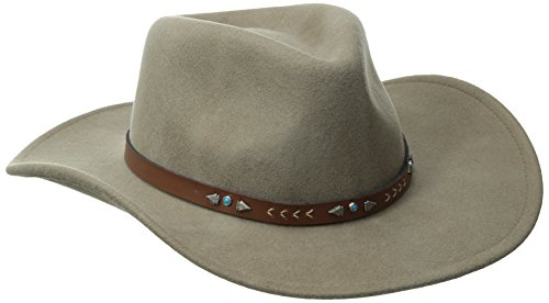 Bailey Western Men's Broken Arrow, Khaki, - Western Bailey Hats