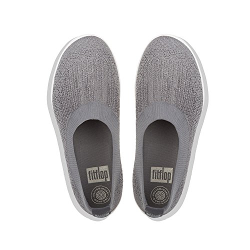 551 metallic Infilare Donna Ballerina Sneaker Pewter charcoal Fitflop Überknit Multicolore on Slip Tm 6ATnqv7