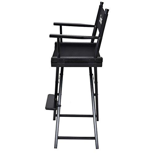 Giantex Folding Wooden Makeup Director Artist Chair Beech