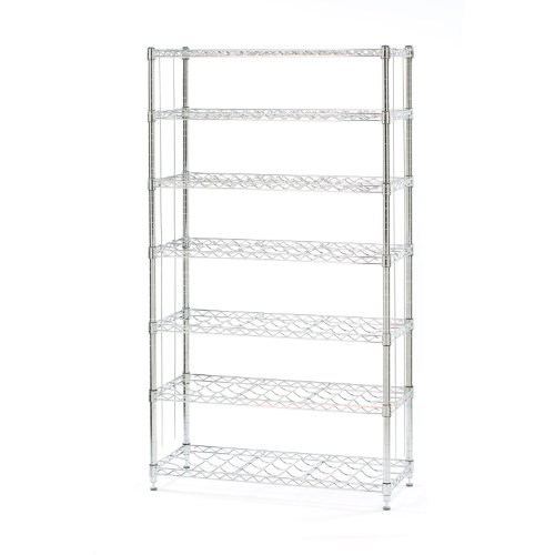 Seville Classics 168-Bottle 7-Shelf Wine Rack, NSF (Chrome Wine Rack)