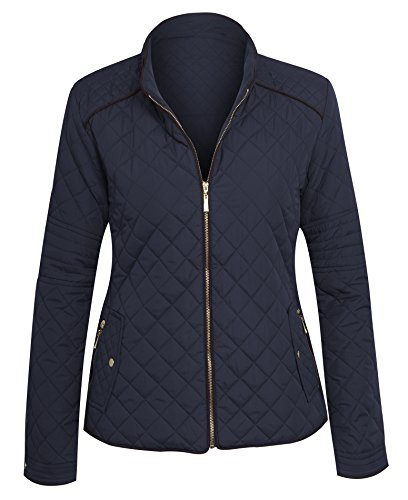 Women's Zip Front Lightweight Quilted Zip Jacket