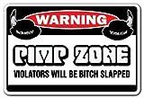 details west ho - PIMP ZONE Warning Sign signs player rapper rap mobile pimping| Indoor/Outdoor | 20