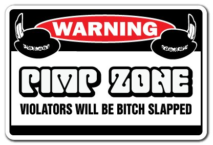 Pimp Zone [3 Pack] of Vinyl Decal Stickers | 3.3