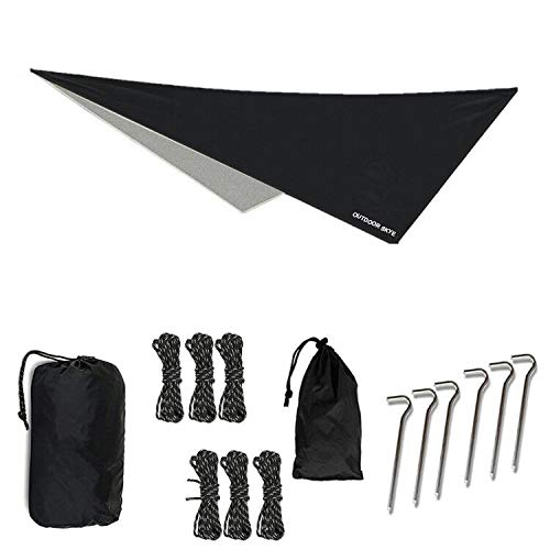 OUTDOOR SKYE 10'x10' Rain Fly Hammock Tent Tarp for Extreme Waterproof Protection - Large Canopy is Portable and Provides Ideal Shelter for Your Camping Hammock Or Tent (Black)