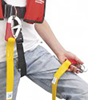 Nautos 55983 - 2 METERS (6.5 FEET) WITH 2 DOUBLE ACTION SAFETY HOOKS - PLASTIMO
