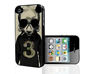 Panda Wearing Grey Hoodie Hard Snap on Phone Case (iPhone 5/5s) by ruishername
