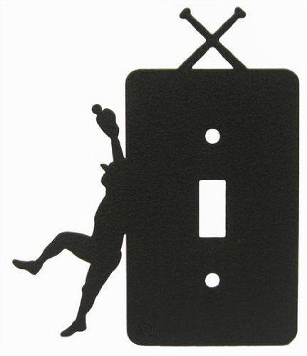 Baseball Single Light Switch Plate Cover