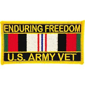 MilitaryBest US Army Operation Enduring Freedom With Service Ribbon Patch
