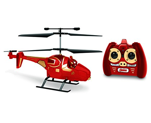 Marvel Avengers Iron Man IR Hero Pilot RC Helicopter, Red, 19.5 x 3 x 8