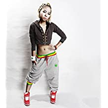 Imixcity HIPHOP Mens Womens Casual Harem Baggy Dance Sport Sweat Pants Trousers Slacks Grey(XL)