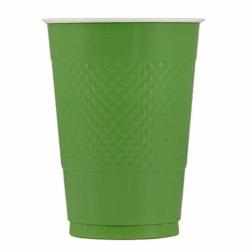 JAM Paper Plastic Cups - 16 oz - Green - 20/pack