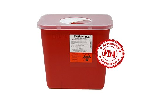 2 Gallon Size | Sharps and Biohazard Waste Disposal Container (Pack of 2) by Oakridge Products by OakRidge Products (Image #6)