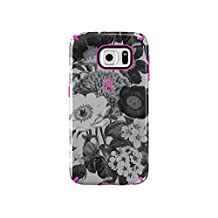 Speck Products CandyShell Inked Case for Samsung Galaxy S6-Retail Packaging, Vintage Bouquet Grey/Shocking Pink