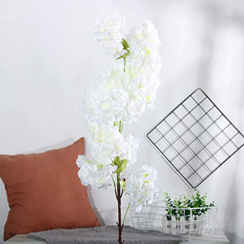 AMSKY Artificial Flowers White,Artificial Silk Fake Flowers
