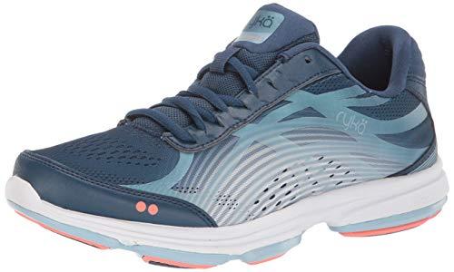 Ryka Women's Devotion Plus 3 Walking Shoe, Navy, 8.5 M US