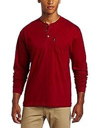 Key Apparel Men's Long Sleeve Heavyweight 3-Button Pocket Henley