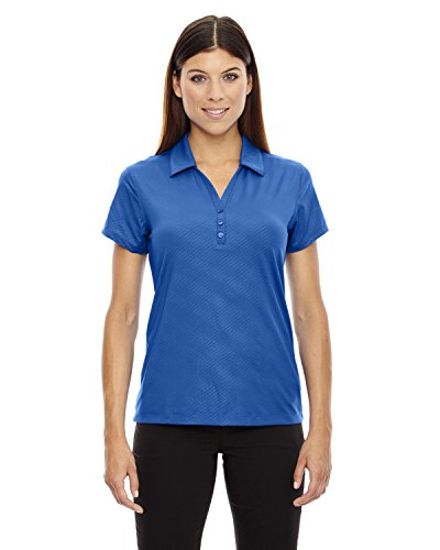 North End Sport Ladies Maze Stretch Embossed Print Polo, Small, NAUTICL Blue 413 ()
